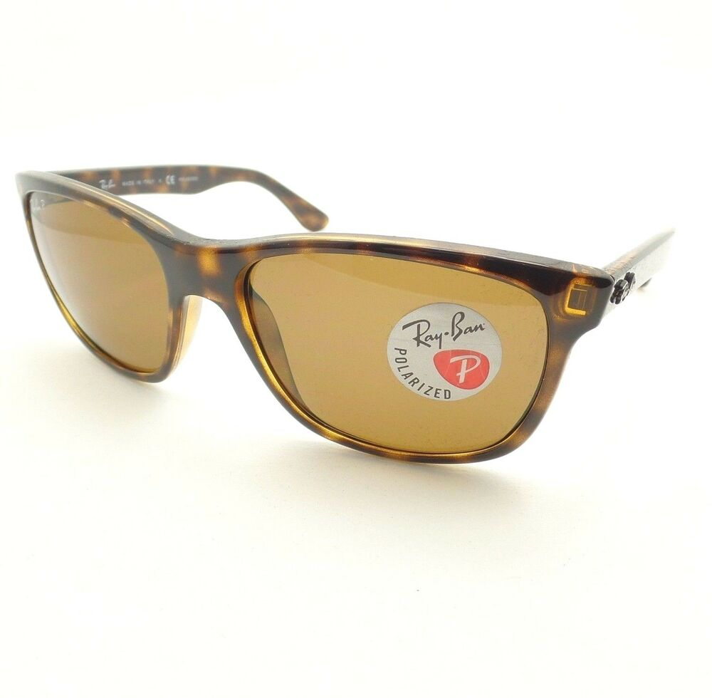 4e16a9df20 Ray Ban RB 4181 710 83 57mm Havana Brown Polarized New Authentic Made In  Italy