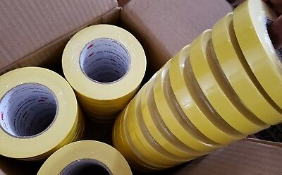 3M 06652 Crepe Paper Automotive Refinish Masking Tape 3/4 Inch 48 - Pack Yellow