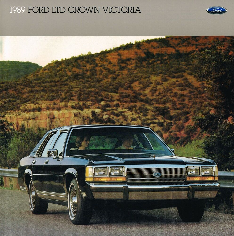 1989 Ford Ltd Crown Victoria Brochure Catalog Lxcountry Squire 1980 Coupe Wagonnos Ebay