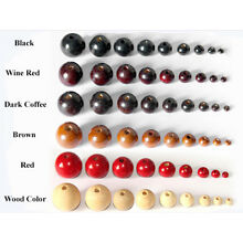 Natural Round Wood Spacer Bead Loose Center Drilled Two Hole Painted Unfinished