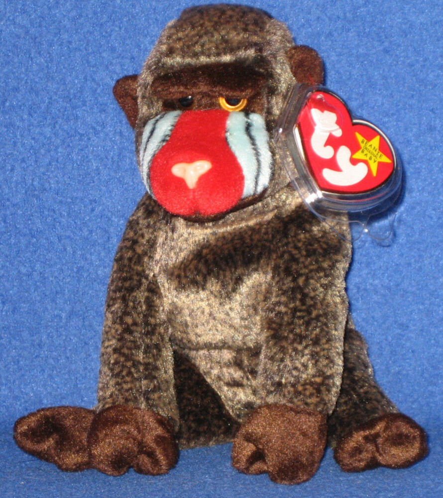 Details about TY CHEEKS the BABOON BEANIE BABY - MINT with NEAR MINT TAG 1fdc5012d25