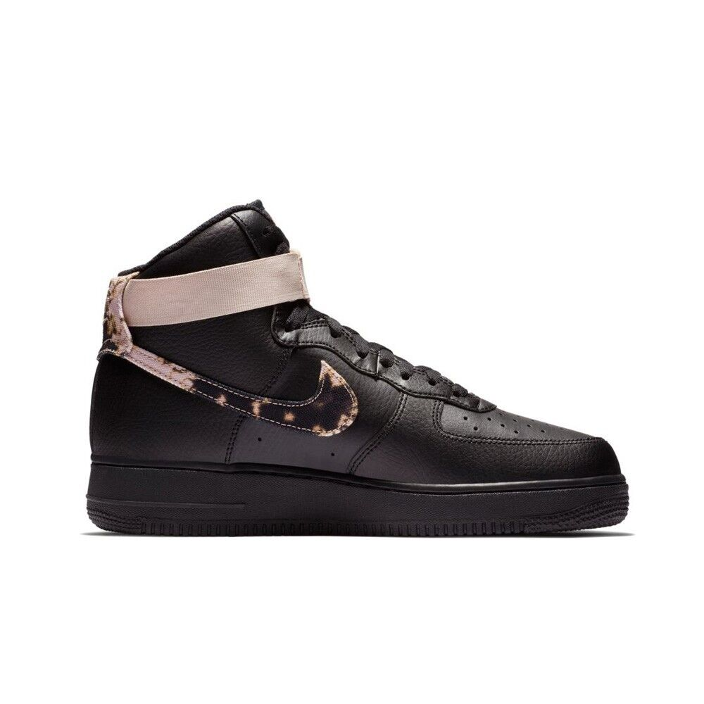 quality design 42be9 1a646 Details about Nike Air Force 1 High Print (BlackWhite-Particle Beige)  Mens Shoes AR1954-002