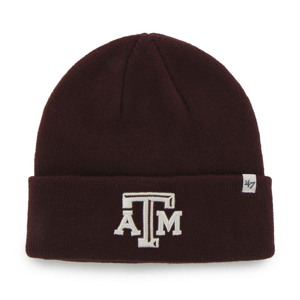 purchase cheap 730f7 d0995 Details about NCAA Texas A M Aggies Embroidered Raised Cuff Knit Hat by  47