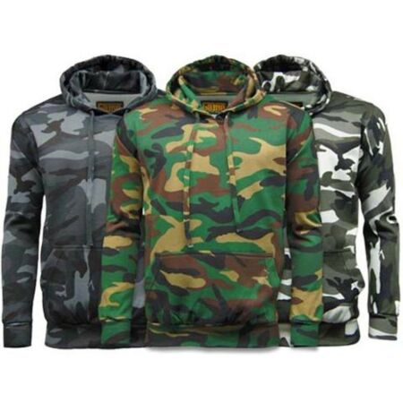 img-NEW GAME CAMO HEAVYWEIGHT 300gsm COTTON/POLYESTER CAMOUFLAGE HOODIE S to 5XL, ek
