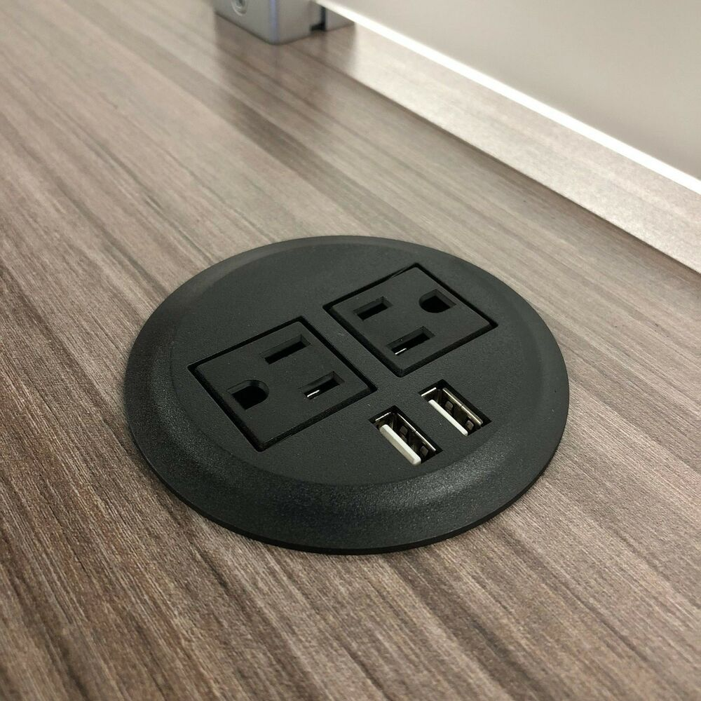 Pwr Plug Power Outlet Usb Charger Port Fits 3 Quot Inch Table