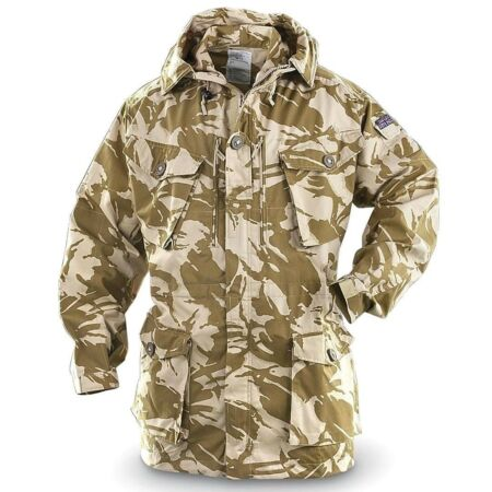 img-Hooded Desert Camouflage jacket - Coat (Ex British Army Wind proof Desert Smock)