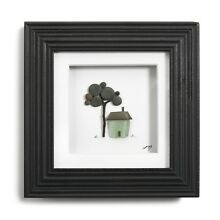 Sharon Nowlan Reproduction Pebble & Sea Glass Wall Art A Place To Call Home 6X6