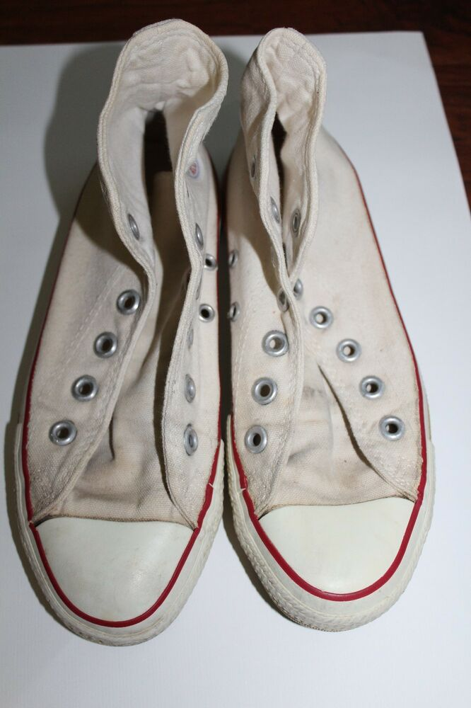 7bb01283f488 Details about VINTAGE CONVERSE CHUCK TAYLOR ALL STAR Made in USA High Top  Size 4 70s 80s