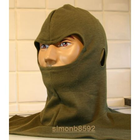 img-UK BRITISH ARMY SURPLUS ISSUE GREEN AFV ARMORED FIGHTING VEHICLE HOOD BALACLAVA