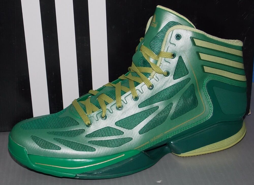 8c3dd7a166d Details about MENS ADIDAS ADIZERO CRAZY LIGHT 2 in colors GREEN   BLGOME    FOREST SIZE 8
