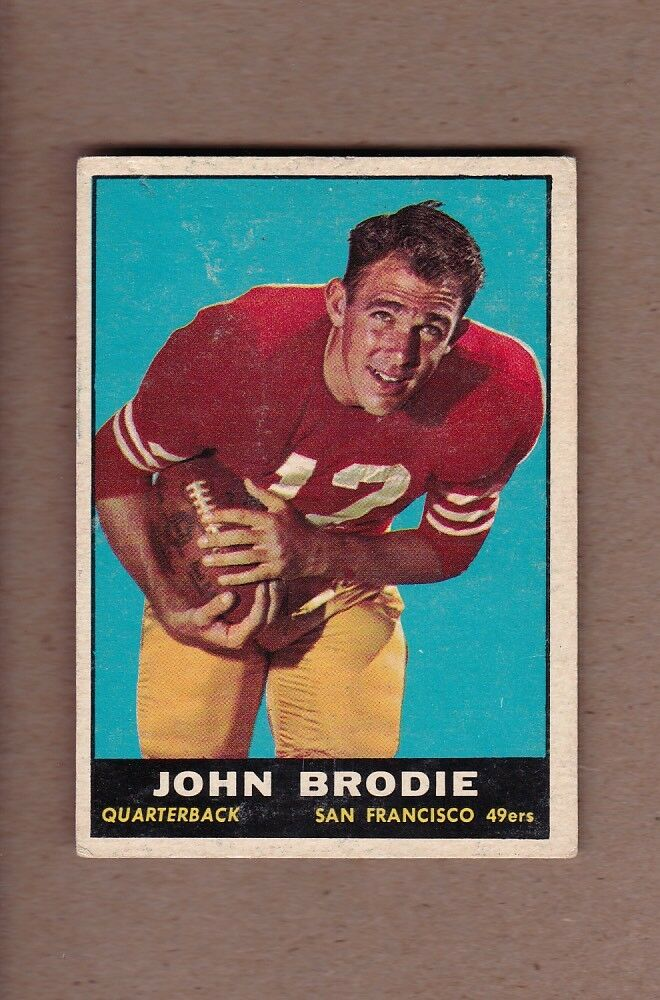 4c13e6d9867 Details about NICE 1961 Topps  59 John Brodie ROOKIE CARD -  40.00 - San  Francisco 49ers RC !!