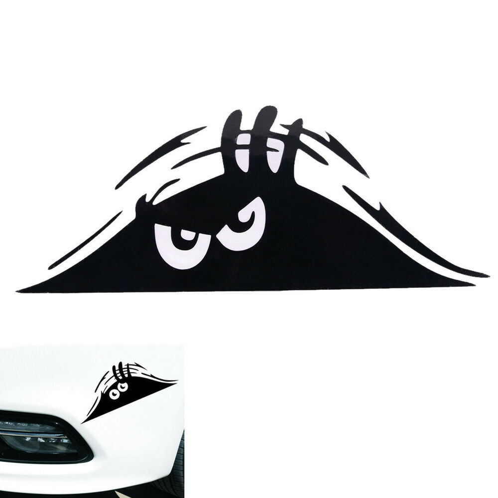 Details about funny peeking monster auto car walls windows sticker graphic vinyl car decal