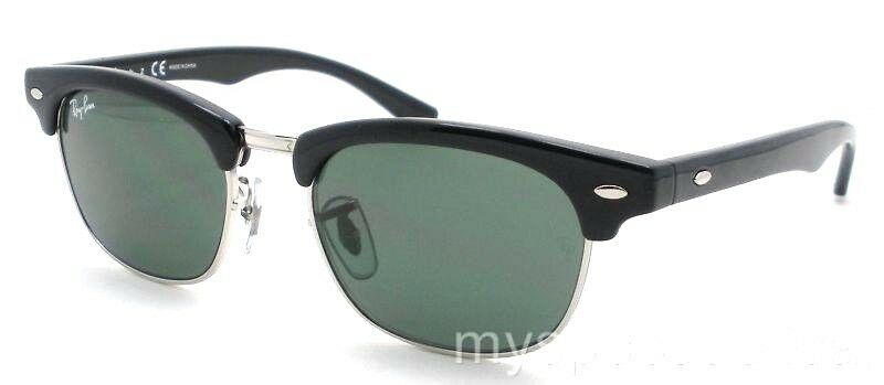 Details about AUTHENTIC Ray Ban Kids RJ 9050 Black Silver 100 71 45mm Green  New Sunglasses 4cf6982f2c