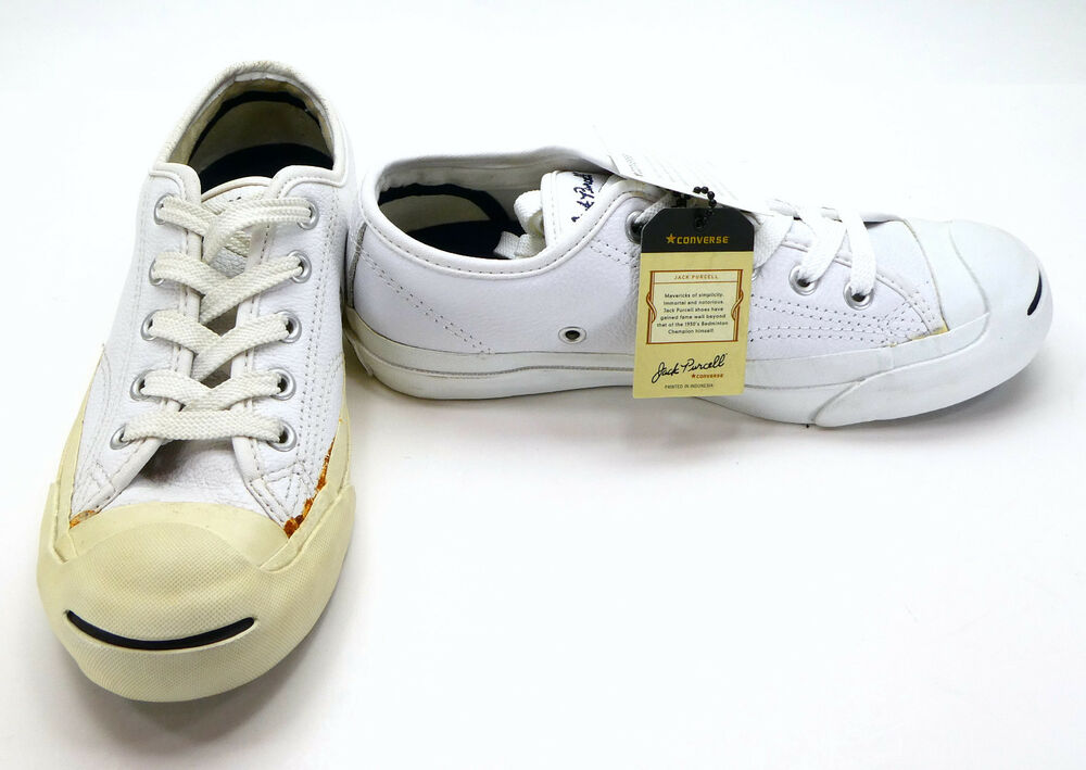 ff466a96e9b Details about Converse Shoes Jack Purcell Core Leather Lo White Sneakers Womens  4.5