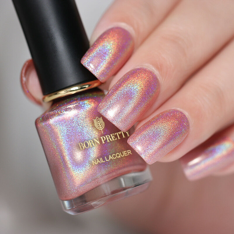 6ml BORN PRETTY Holographic Nail Polish Pink Holo Super