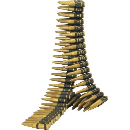 img-Gold Plastic Gun Bullet Belt Military Soldier Army Mens Fancy Dress Accessory