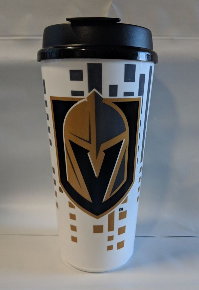 0d18e1340 Details about Las Vegas Golden Knights Game Day Single Wall Travel Cup  Tumbler Mug Lid 32oz