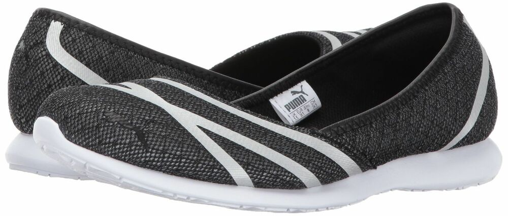 dc7e5d1af2c388 Details about New Women s Vega Mesh Ballet Flats shoes black white womens  363684-01 Slip-on