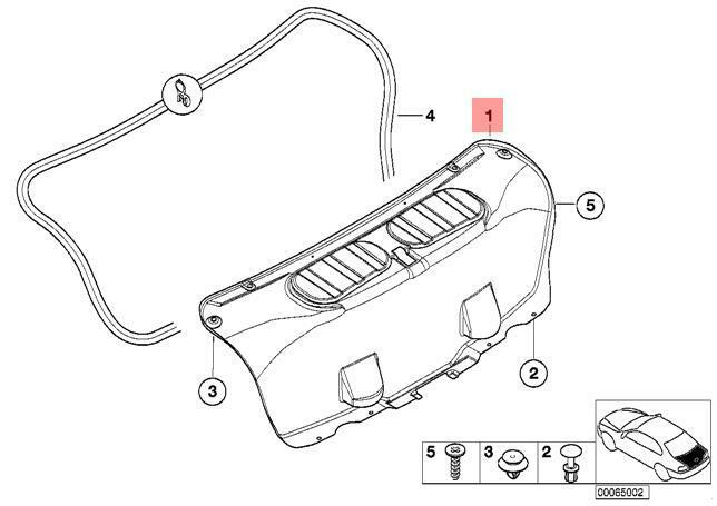 Genuine Bmw Trim Panel Trunk Lid M3 E46 M3 Csl Coupe 51497896451