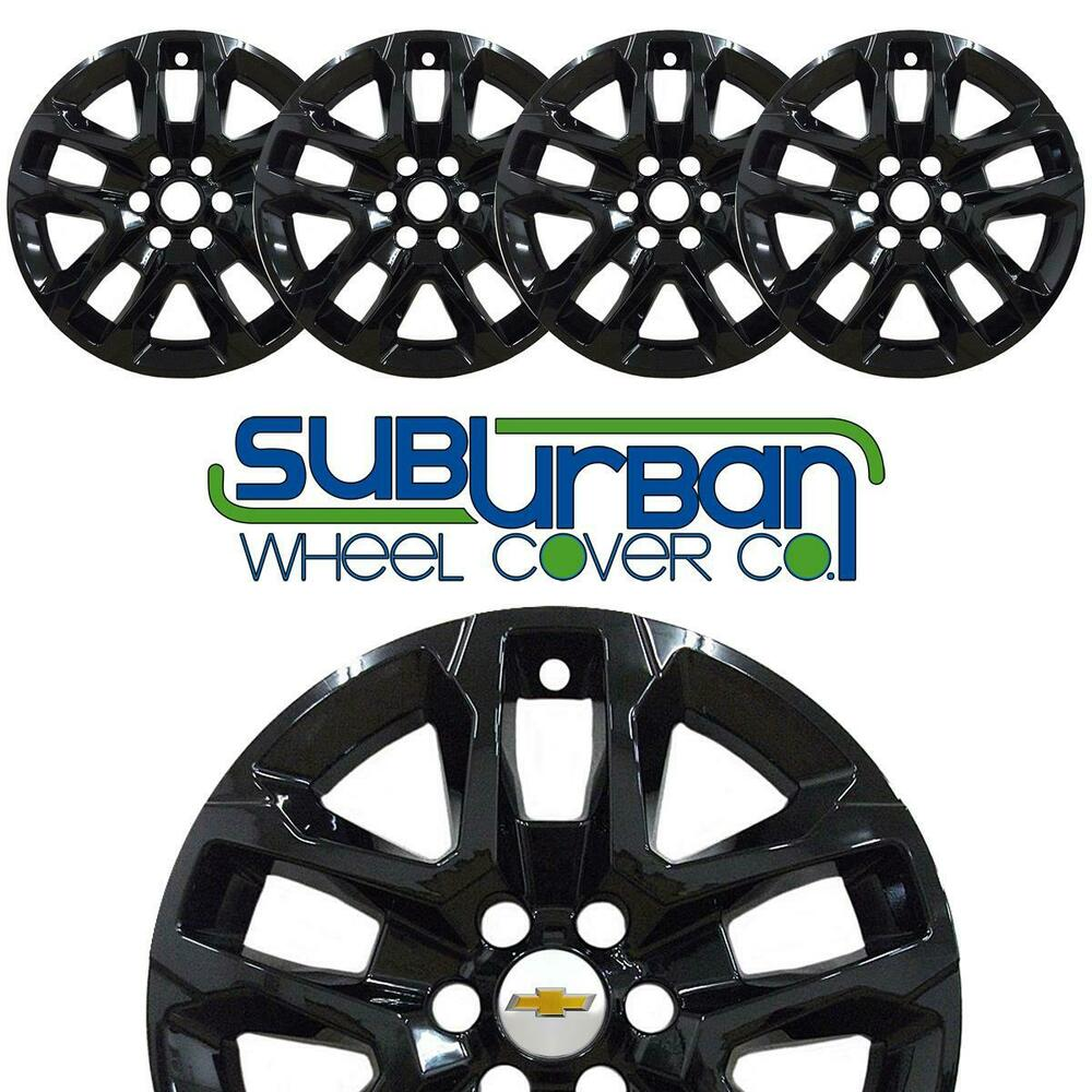 "2018-2019 Chevrolet Traverse 18"" Black Wheel Skins"
