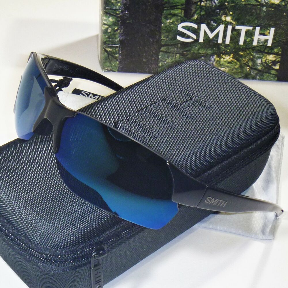 1f3d605441 Details about Smith Envoy Max Sunglasses - Black Frame - Polarized Blue  Chromapop Lens