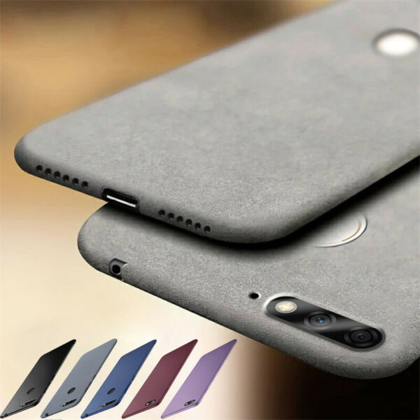For Huawei Honor 10 9 8 Lite 7A 6X 5C Soft TPU Sandstone Matte Back Case Cover