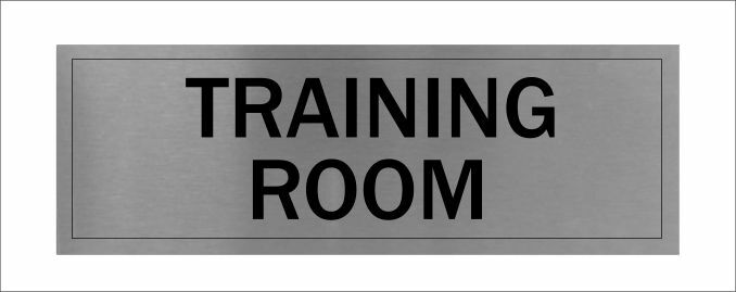 training room sign brushed aluminium office signs ebay