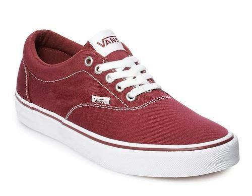 7024ef4a86 Details about VANS Doheny Maroon Red+White Mens Athletic Sneakers Casual  Skate Shoes NEW