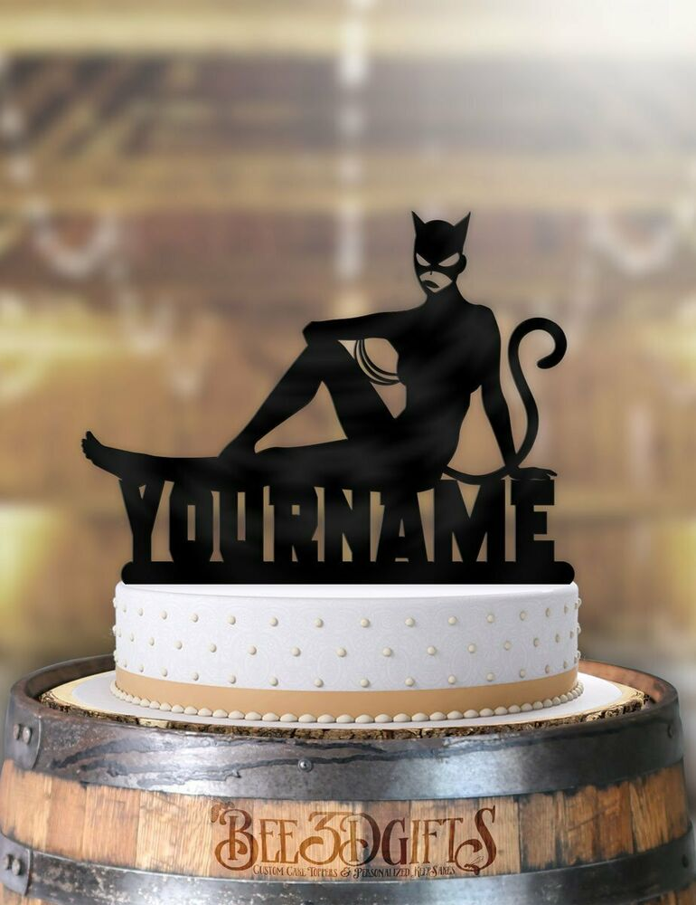 Details About Personalized Catwoman Cool Birthday Cake Topper