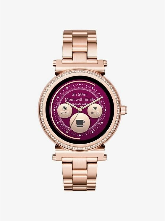 Details about Display Michael Kors Access Unisex Sofie Rose Gold Plated Smart  Watch MKT5022 f1cd4e8951