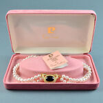 Vintage Necklace Boxed PIERRE CARDIN 1980s Faux Pearl Goldtone Bridal Jewellery