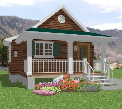 Grimshaw Designs A Tiny Home That S Affordable: Tiny House Home Building Plans 1 Bed Cottage Cabin 518 Sf