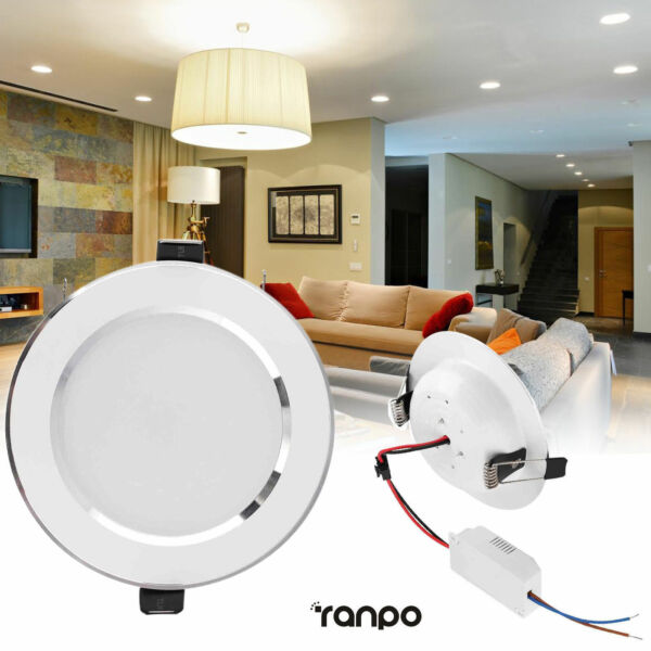 Dimmable LED Recessed Ceiling Downlight 18W 15W 12W 9W 7W 5W 3W White Lamp RD107