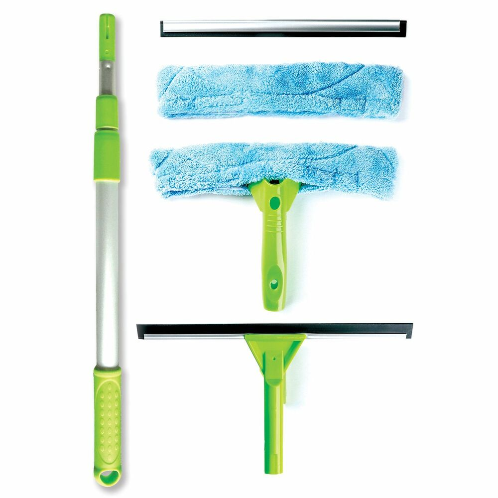 Telescopic Window Cleaning Kit With Super Squeegee, Light