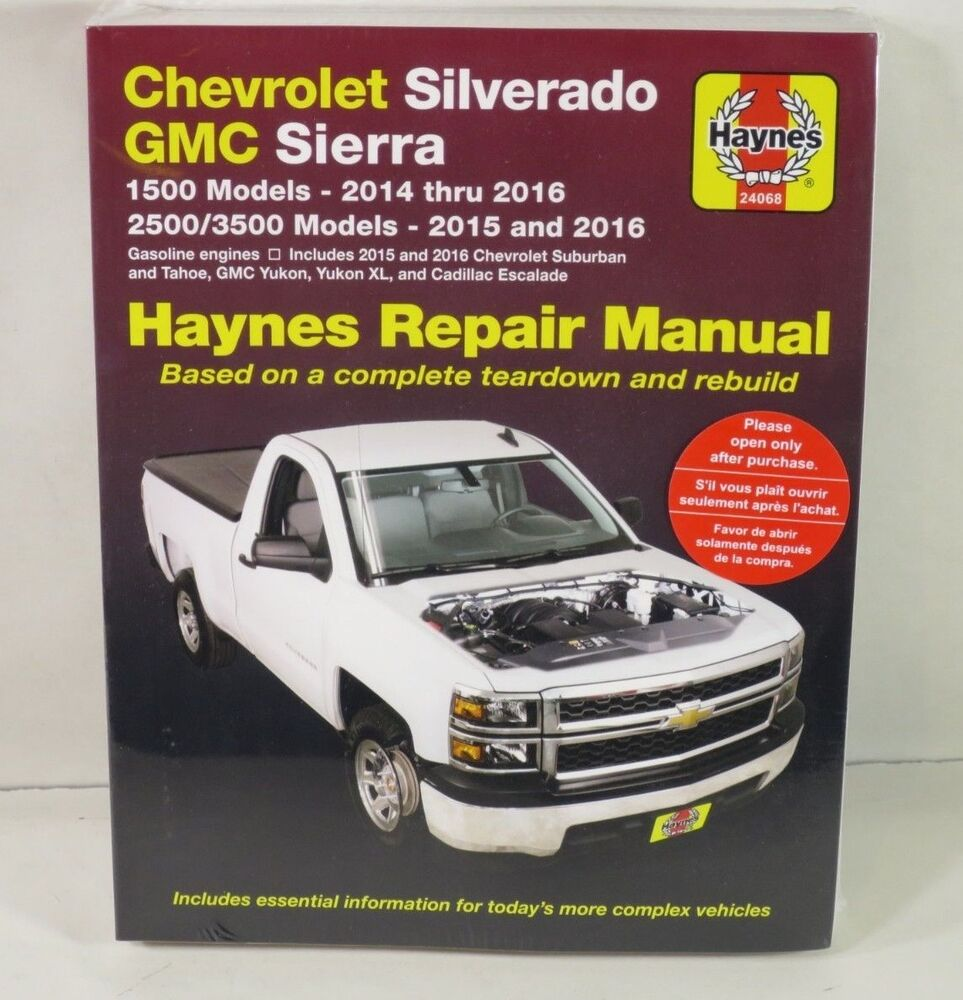 Repair Manual Haynes 24068 Chevrolet Silverado GMC Sierra 1500 2500 3500  Models | eBay