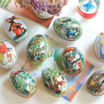0017 Easter Eggs Bonbonniere Hard Color Random Painted Accessory Cute Wedding