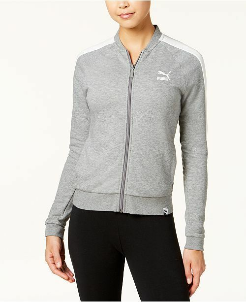 ed669c3407d5 Details about Puma Women s T7 Archive Track Jacket Grey Metallic Silver S