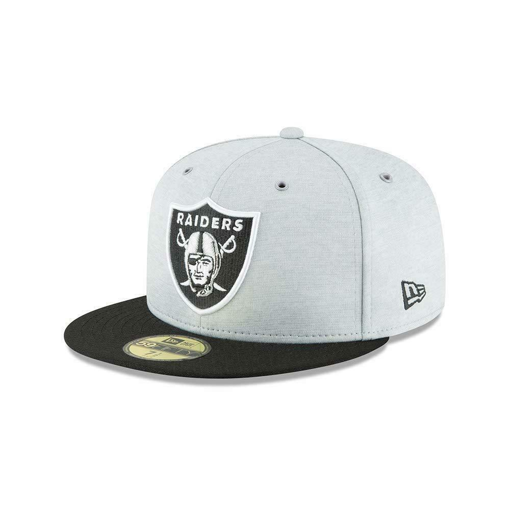 separation shoes 36e9e 4659a Details about NEW ERA 59FIFTY FITTED CAP. ON FIELD SIDELINE OAKLAND RAIDERS.  RRP £32