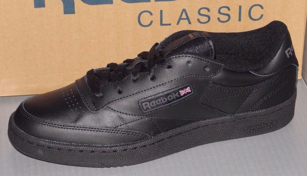 4900f7bac89 Details about MENS REEBOK CLUB C 85 in colors BLACK   CHARCOAL SIZE 12