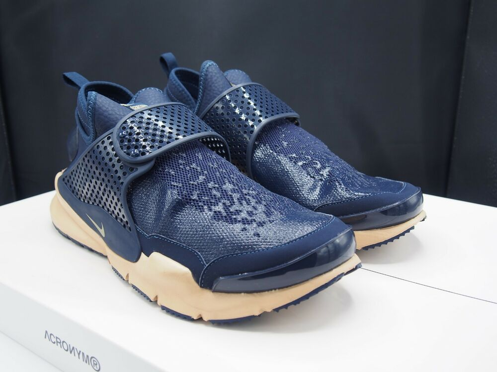 bed40bfca454c4 Details about Nike X Stone Island Sock Dart Mid Obsidian 910090-400