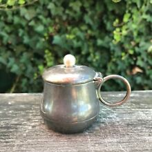 Vintage Antique Mustard Pot Albany Triple Silver Plate  Co. 2.5