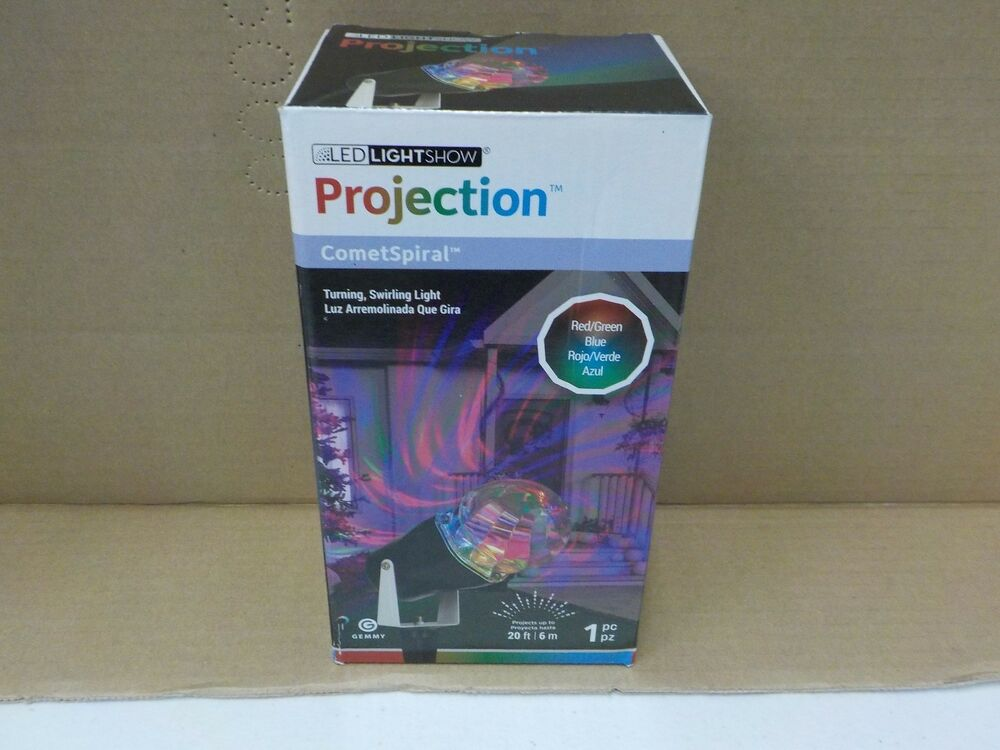Led Lightshow Projection Cometspiral Red Green Blue