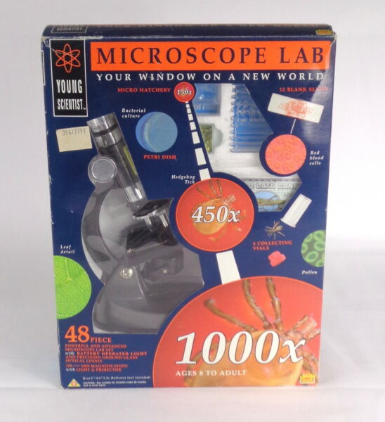 Young Scientist Microscope Lab 48 Pieces by Salter Merit 1000x Age 8 Years Above