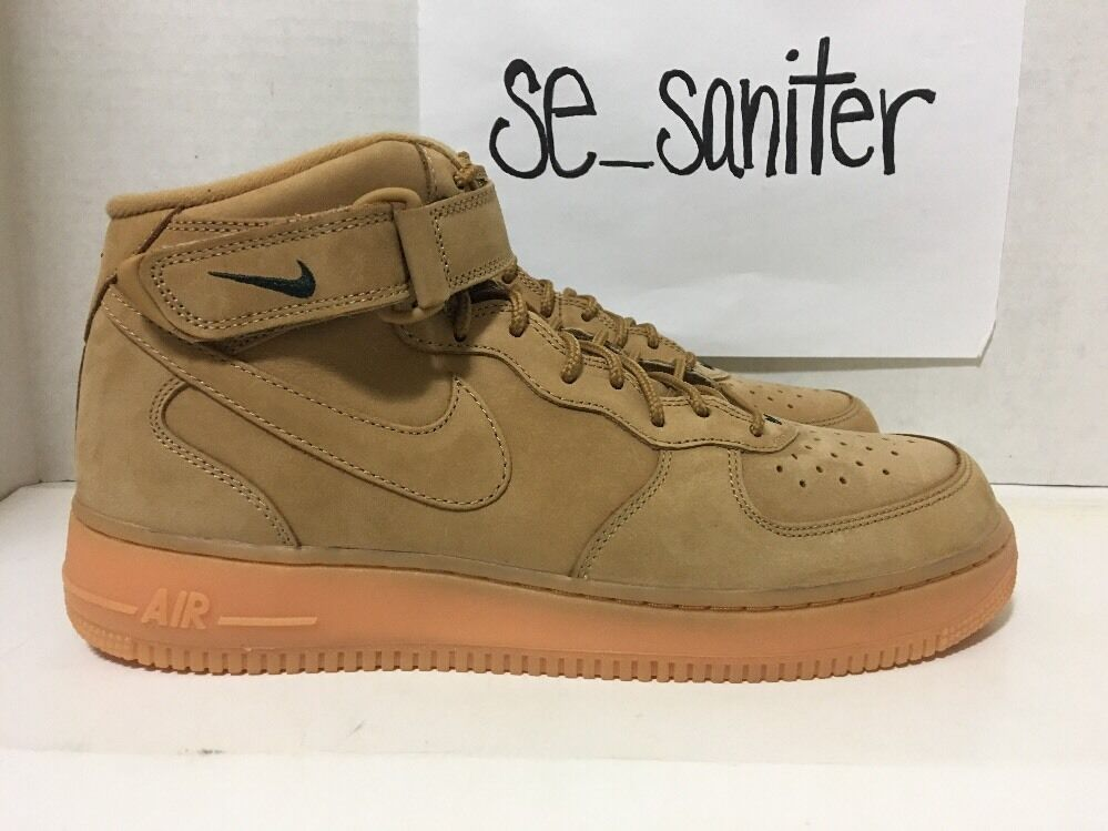 a154bbcb5c3 ... order mens nike air force 1 mid 07 prm premium qs flax wheat 715889 200  size