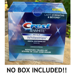 Kyпить NO BOX  CREST 3D 1 HOUR EXPRESS NO-SLIP Whitestrips White Strips Teeth Whitening на еВаy.соm