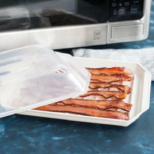 Nordic Ware Microware Covered Microwave Bacon Rack Bpa