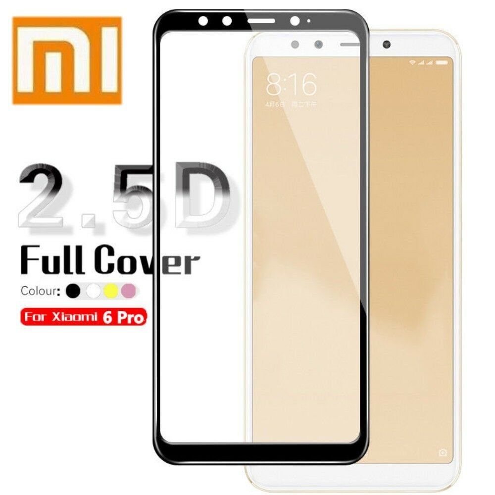 9h Curved Tempered Glass Film For Xiaomi Mi A2 Lite Screen Full Layar Redmi Pro Protector