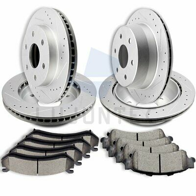 Front Rear Ceramic Pads And Rotors Brake Discs For Chevy Astro Tahoe LS LT