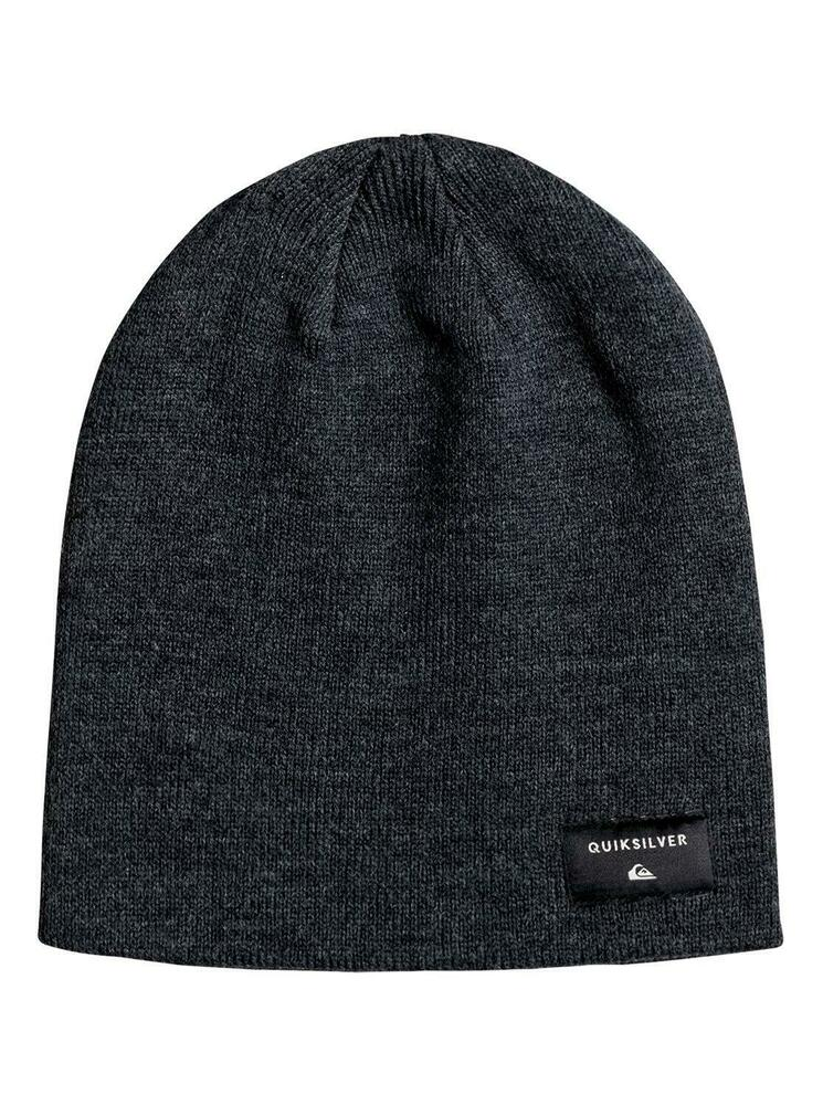 Details about QUIKSILVER CUSHY SLOUCH BEANIE HAT. DARK CHARCOAL HEATHER  (EQYHA03100) b3dc00b53acd
