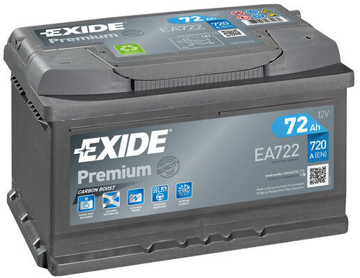 Exide Ea722 Type 100 Car Battery 12v 72ah 720a Ford Focus Ii Check Size